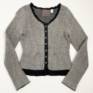 Anthro Guinevere Lambswool Blend Cardigan Small